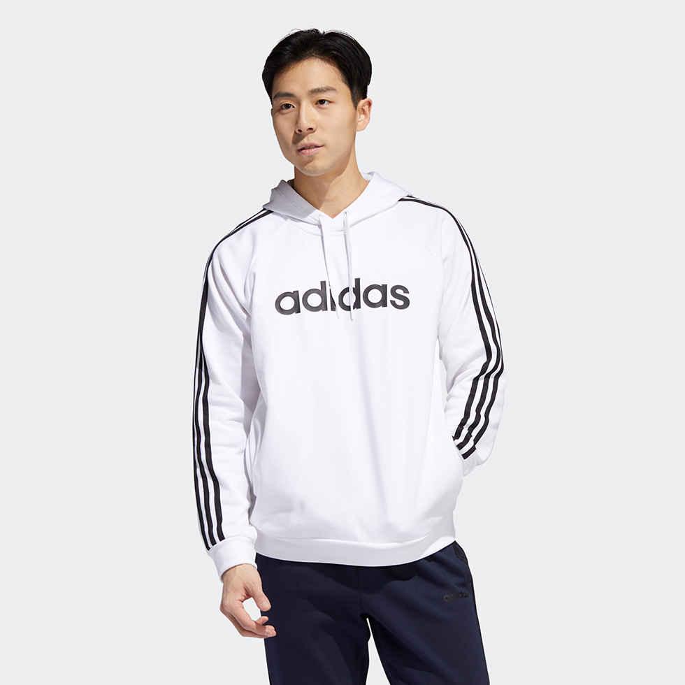 Adidas 3-STRIPES LINEAR LOGO PULLOVER HOODIE